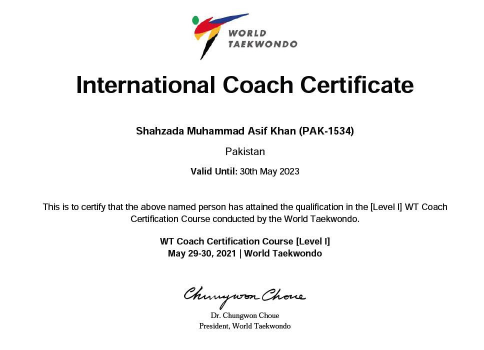 Pakistani International Taekwondo Coaches