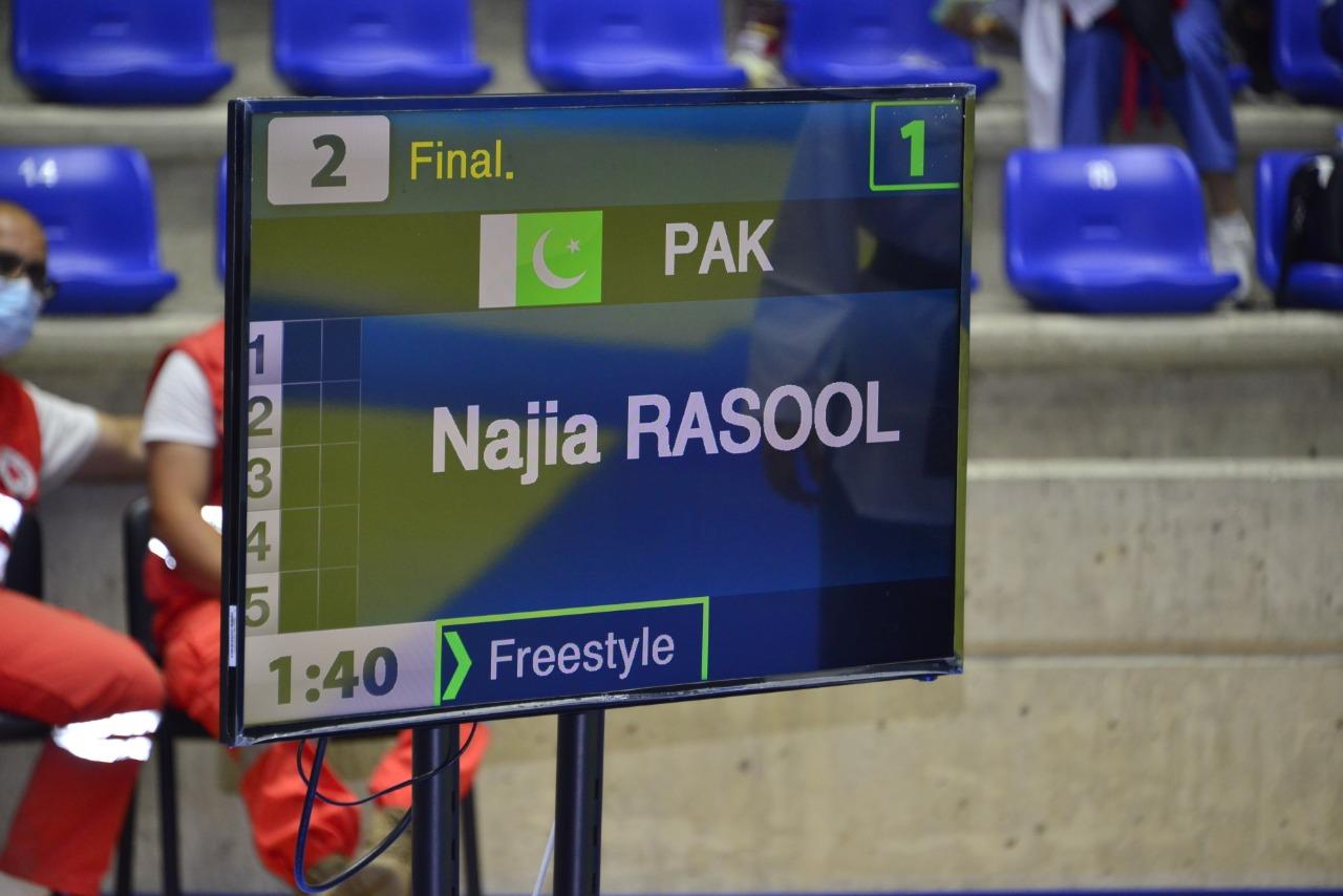 Najia Rasool won Bronze Medal for Pakistan in Asia Championship
