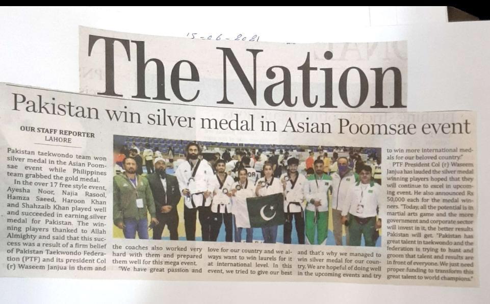 Pakistani Taekwondo team in Asian Taekwondo Championship