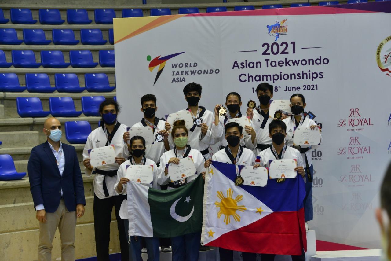 Pakistan Taekwondo Team won Silver Medals